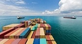 Container ship laden voyage