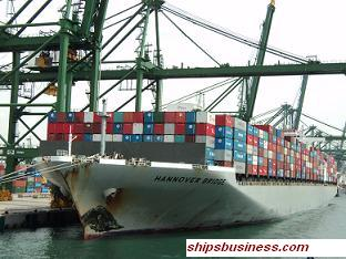 Container ship hull stress