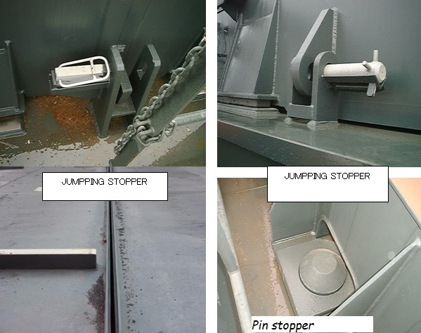 Required clearance of hatch covers for loading underdeck - A